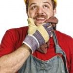 Handyman thinking — Stock Photo #1585291