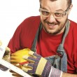 Worker and tool — Stock Photo