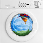 Eco washing machine — Stock Photo