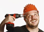 Crazy handyman — Stock Photo