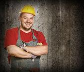 Smiling handyman — Stock Photo
