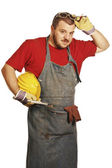 Manual worker portrait — Stock Photo