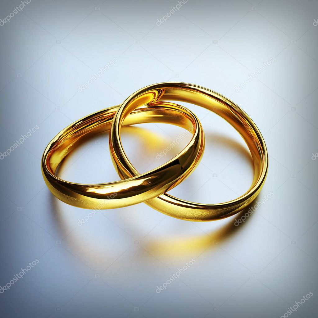3d image of classic gold rings background — Stock Photo #1595374