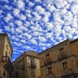 Ancient town and blue sky — Stock Photo