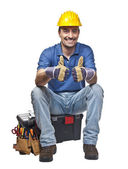 Confident manual worker — Stock Photo