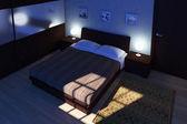 Bedroom night time — Stock Photo