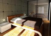Moderne mode slaapkamer — Stockfoto