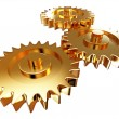 Gold gear - Stock Photo
