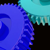 Blue gear background — Stock Photo