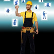Handyman and technology — Stock Photo #2111944