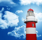 Lighthouse and blue sky — Stock Photo