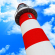 Blue sky and classic light house — Stock Photo