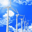 Stock Photo: Wind turbine and blue sky