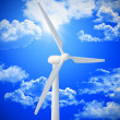 Wind turbine background — Stock Photo