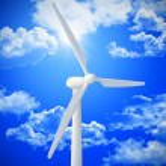 wind turbine achtergrond — Stockfoto