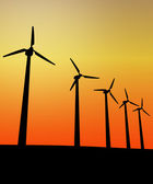 Wind turbine in the sunset — Stock Photo