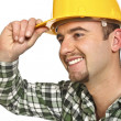 Friendly manual worker - Stock Photo
