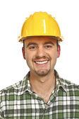 Smiling handyman portrait — Stock Photo