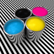 Cmyk color paint background - Stock Photo