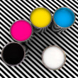 Cmyk color and white — Stock Photo #2421172