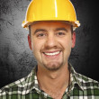 Smiling handyman portrait — Stockfoto