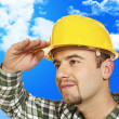 Worker looking forward - Stock Photo