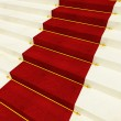 Stair and red carpet — Stock Photo