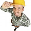 Happy funny handyman - Foto de Stock  