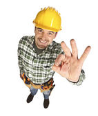 Confident manual worker portrait — Stock Photo