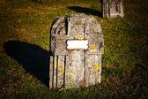 Grave stone — Stock Photo