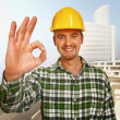 Constructione Worker background — Stockfoto