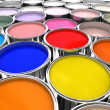 Color paint ink can - Stock Photo
