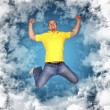 Royalty-Free Stock Photo: Happy man in the sky