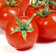 Red tomatoes background — Stock fotografie