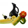 Stock Photo: Corn and jug