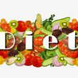 Stock Photo: Diet and vegetables