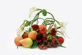 Ikebana from fruit — Stock Photo