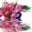 Stock Photo: Bouquet and reflection