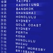 Stock Photo: International Flight Schedule
