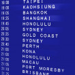 International Flight Schedule — Stock Photo