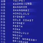 International Flight Schedule — Stock Photo