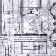 Old Blueprints — Foto Stock