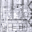 Old Blueprints — Stock Photo