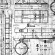 Vintage Blueprints — Stock fotografie