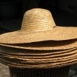 Straw Hats for Sale — Stock Photo