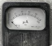 Vintage Ampere Meter — Stock Photo