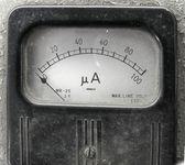 Vintage Ampere Meter — Stock Photo