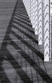Vedação e sombras — Fotografia Stock