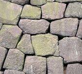 Parede de pedra maciça — Foto Stock