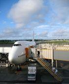 Avion embarquement des préparations — Photo